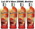 LOT OF 4 New HOT TOTTIE Tingle Sizzle Indoor Tanning Bed Lotion By Pro Tan