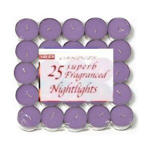 Tea Light Candles Lavender purple Scented 8 Hour Burn Night Light Christmas