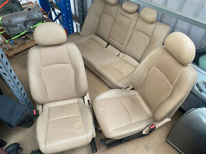 W203 C Class Mercedes front and rear seats tan leather