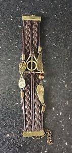 Brown Coloured Infinity Charm Design Fashion Bracelet