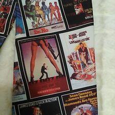 James Bond Movie Posters Neck Tie Ralph Marlin 1995 Retro Novelty Print USA