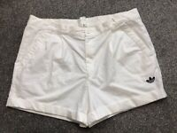"ADIDAS RETRO TENNIS SHORTS OLDSCHOOL VINTAGE THE BUSINESS CASUALS 70s 80s 36"" L"