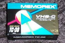 NEW Memorex VHS C Tape TC-30 High Grade SEALED