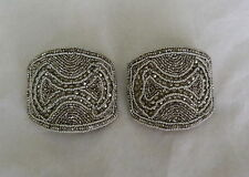 ANTIQUE VINTAGE VICTORIAN EDWARDIAN HOLFAST STEEL CUT SILK SHOE BUCKLE CLIPS