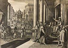 Moîse devant Pharaon Jacob Matham après Hendrick Goltzius 1606 -1652 Israël