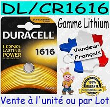 Piles boutons CR1616 DURACELL - Vente aussi : CR2032 CR2025 CR2016 CR2430 CR2450