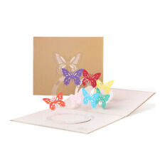 Butterfly Pop Up Greeting 3D Card Gift Holiday Birthday Wedding Anniversary