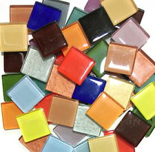 200g Mix Colour Glass Crystal Mosaic Vitreous Tiles 20x20mm Craft Art #35