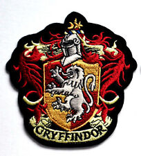 HARRY POTTER GRYFFINDOR HOGWART CREST EMBROIDERED IRON SEW ON SCHOOL BADGE PATCH