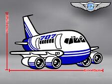 BOEING B 707 B707 CUT TO SHAPE DECAL / STICKER