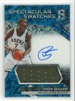 2016-17 Thon Maker 97/99 Jersey Auto Panini Spectra Spectacular Swatches