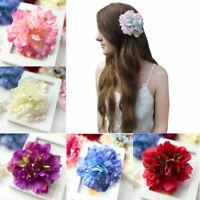 Colorful Flocking Cloth Flower Hair Clip Hairpin DIY Headdress Hair Accessories