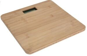 Bamboo Wood Digital Bathroom Scales Compact 150KG Capacity Brown