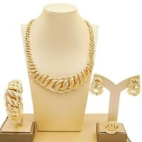 #53 HUGS & KISSES necklace bracelet earrings ring 18k Layered real gold filled