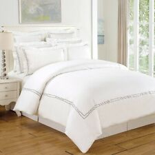 Superior 200 Thread Count 100 Cotton Embroidered Lorenz Duvet Cover Set,