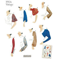 S8506 Style 1930's Simplicity SEWING PATTERN Set of Vintage Sleeves Sizes 10-22