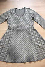 BODEN  grey / gold  pattern winter dress size 14L  NEW     WH690