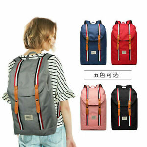 TUGUAN Fashion Simple Laptop Backpack Travel Canvas Backpack Student Bag