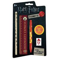 NEW Harry Potter Hogwarts 5 Piece Stationery Set Pen Pencil Ruler Sharpener UK