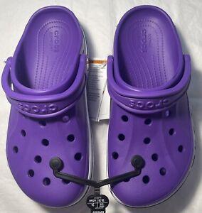 New Women's CROCS Purple Bayaband Shoes Clogs Size 8 FREE SHIPPING