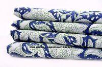 Hand Made Block Print Sewing Running Anokhi Indian Cotton 2.5 yard Loose Fabric