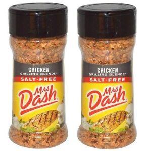 Mrs Dash Original Blend Salt-Free Chicken Grilling Blend 2 Bottle Pack