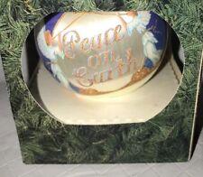 "1993 Peace On Earth Ball Christmas Tree Ornament 3"" Angels Trumpets Nib"