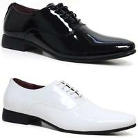 Mens Formal Office Work Smart Shoes Patent Toe Cap Oxford Gibson Wedding Shoes