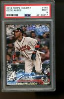 2018 Topps Holiday #140 Ozzie Albies Braves RC Rookie Card PSA 9 MINT!