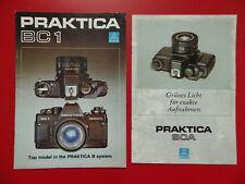 2 x altes Foto Prospekt PRAKTICA BC1 und BCA Kamera Pentacon 1985/86 ( F 17420