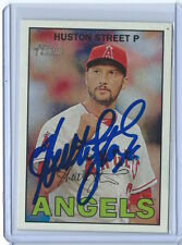 HUSTON STREET Signed Autographed 2016 Topps Heritage Base Card LAA Angels Auto