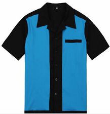 Cotton Blend Bowling Casual Shirts for Men