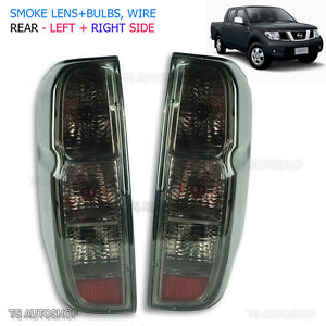 For D40 Nissan Navara Frontier Back Outlaw Tail Rear Light Lamp Smoke 06 - 13