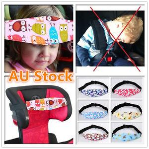 Baby Head Support Holder Sleep Belt Adjustable Safety Car Seat Kids Nap Aid Band