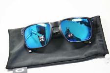 Oakley Holbrook 9102 H0 Matte Black Prizm Sapphire Polarized Sonnenbrille Neu