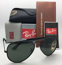 78ad516064 New RAY-BAN Sunglasses RB 3422-Q 9040 Black Leather Aviator w  G
