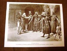 Giuramento di Pontida della Lega Lombarda Quadro di Fortunino Matania del 1899