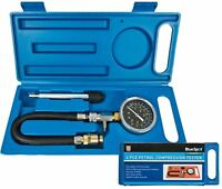 BlueSpot 4pc Compression Tester Kit Petrol Engine Cylinder Leakage Tool Set