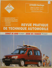 revue pratique de technique automobile RTA CITROEN Berlingo / PEUGEOT Partner