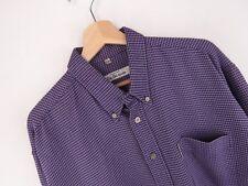 VTG276 Ben Sherman Camicia Vintage Originale Premium a Bottoni Macchie Taglia XL