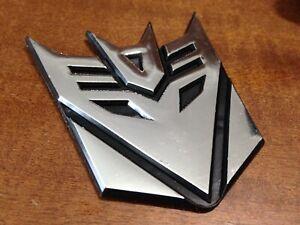 transformers adesivo 3d decepticon logo auto moto cromato stemma Plastica
