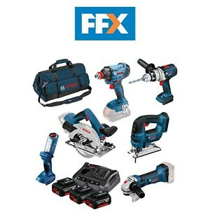 Bosch 0615990L1M 18v 3x4.0Ah Li-ion 6 Piece ROBUST series Power Tool Kit