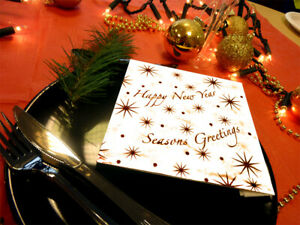 125 x 40cm Happy New Year Xmas Paper Napkins / Serviettes [5055202162204]