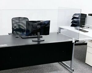 Office Desk Screen - Personal Protection 5mm Polycarbonate Work Desk Screen