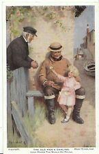 Children Postcard - The Old Men's Darling - Old Man Sat with Little Girl  1799