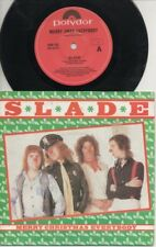 "SLADE  Rare 1981 Aust Only 7"" OOP Polydor Rock P/C Single ""Merry Xmas Everybody"""