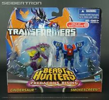 CINDERSAUR + SMOKESCREEN Transformers Prime Beast Hunters Predacons Rising New