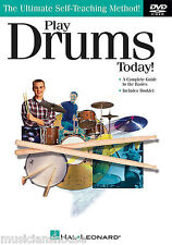 Learn To Play DRUMS TODAY DVD Drum Lesson Tutor READ MUSIC FILLS BEATS SONGS POP