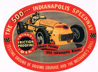WYNNS OIL 1950 INDY 500 JOHNNIE PARSONS HOT RAT ROD RACING DECAL BUMPER STICKER