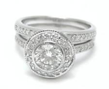 1.80CT ROUND CUT DIAMOND ENGAGEMENT RING &  BAND-BEZEL